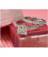 3.10ct White Princess Diamond Engagement Bridal Ring Set 14K White Gold ... - $114.67