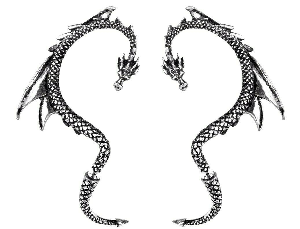Primary image for The Dragon's Lure Stud Earring Left or Right Pair Ear Wrap Alchemy Gothic E274