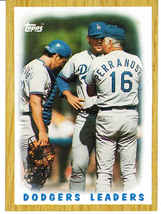 1987 Topps Dodgers Leaders - $3.00