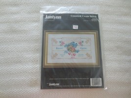 "1992 Janlynn WEDDED Counted Cross Stitch SEALED Kit #125-61 - 12"" x 9"" - $5.94"