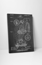 Bicycle Hentz Patent Print Gallery Wrapped Canvas Print. BONUS WALL DECAL! - $44.50+