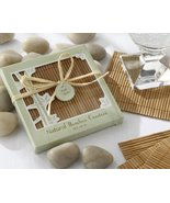 Natural Bamboo Eco-Friendly Coaster Favors Four Coasters per Favor (Set ... - $11.64