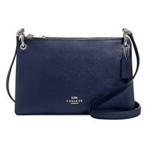 NWT COACH Small Mia Shoulder Bag Crossbody Classic Metallic Blue Glitter... - $110.88