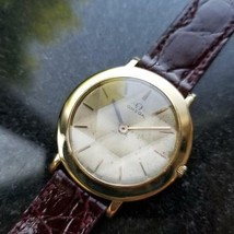 OMEGA Men's Midsize/Unisex 18K Solid Gold Hand-Wind Dress Watch c.1962 MS196 - $2,699.69