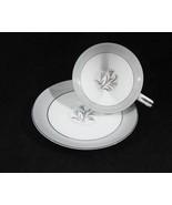 Noritake China Theme Tea Cup & Saucer Set Circa... - $4.00