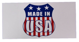 Wholesale Lot of 6 Made In USA Badge Logo Decal Bumper Sticker - $13.88