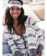 Victoria's Secret The Fireside Long Jane Pajama, Grey Fair Isle, sz L, NWT - $50.00