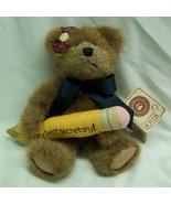 "Boyds ""BEARY BEST SECRETARY"" TEDDY BEAR 8"" Plush STUFFED Toy NEW - $19.80"