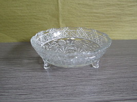 Vintage Pressed Glass Footed Bowl - $20.00