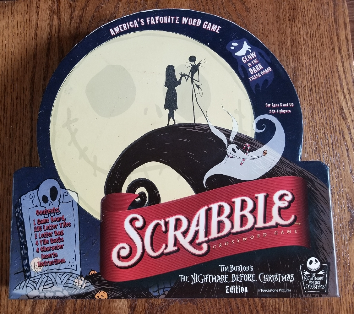 Primary image for SCRABBLE TIM BURTONS NIGHTMARE BEFORE CHRISTMAS EDITION GAME 2007 SABABA TOYS