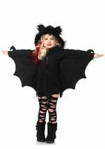 Bat Cozy Black Fleece Zip Front Costume w Fuzzy-Earred Hood by Leg Avenu... - $29.95