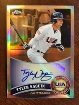 2011 Topps Chrome Tyler Naquin USABB17 RC Baseball Card Auto USA 131/199 - $19.99