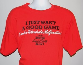 Mens Twin Peaks T Shirt Xl I Just Want A Game & A Wardrobe Malfunction - $21.73