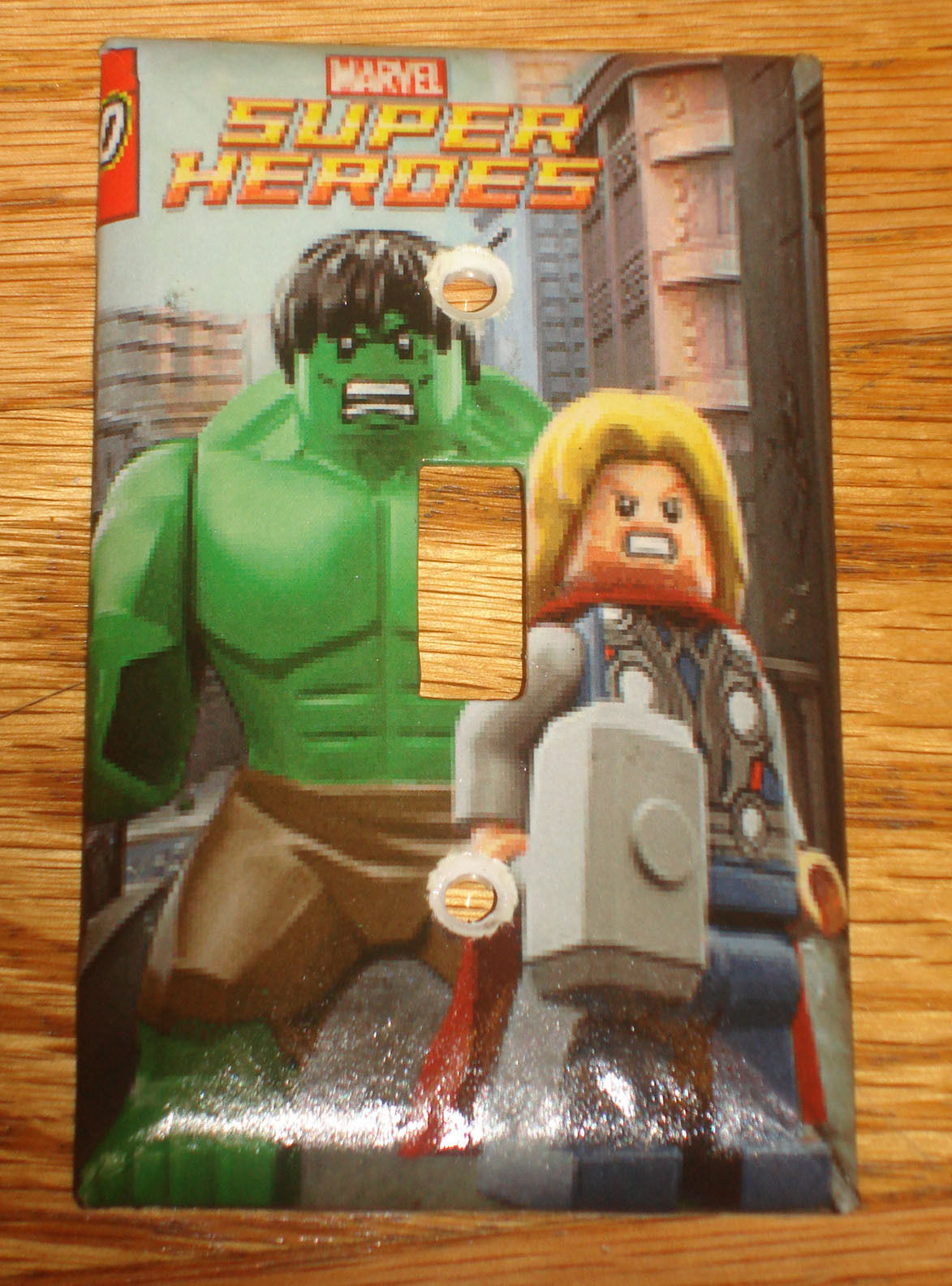Lego Super Heroes Marvel Hulk & Thor Light Switch Outlet Cover Plate Home decor