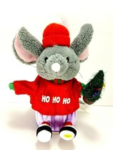 Vintage Gemmy Singing Dancing Christmas Mouse Santa Claus Is Coming To Town - $22.27