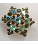 Vintage Aurora Borealis Pin Brooch, Star Shaped, Made in Austria - $33.15