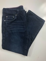 "Levi's Girl's Slim Straight Fit Dark Wash Jeans Size 12 1/2 Plus 24x20x8"" - $19.75"