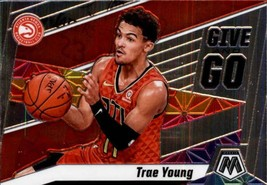 2019-20 Panini Mosaic Give and Go #4 Trae Young Hawks - $5.95