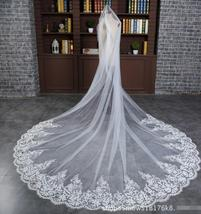 Tulle White/Ivory Double Wedding Veils for Bridal with Appliques - $19.99+
