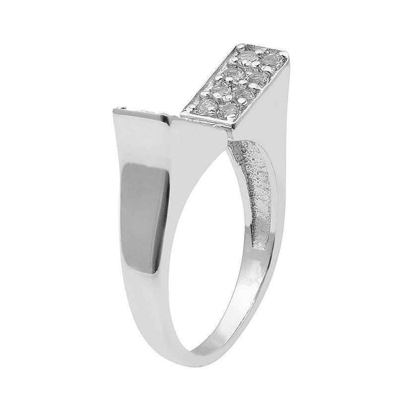 Royal !! White Topaz 925 Sterling Silver Ring Shine Jewelry Size-8 SHRI1471