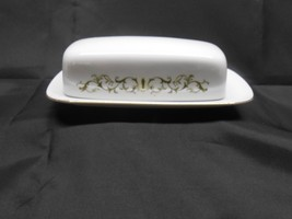 Fine China of Japan BELL FLOWER  #2999 1/4 LB. Covered Butter Dish - $11.50