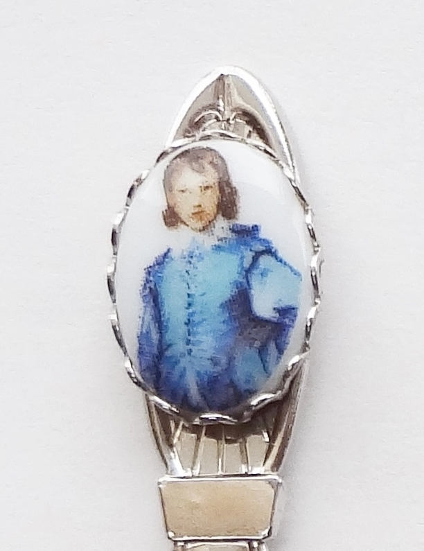 Primary image for Collector Souvenir Spoon The Blue Boy by Thomas Gainsborough Porcelain Emblem