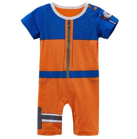 Primary image for Baby Boy Uzumaki Costume Bodysuit Short Sleeve Naruto Cosplay Clothes
