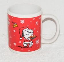 Snoopy Season Greetings Xmas Christmas Holiday Ceramic Coffee Mug - $25.99
