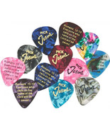 Pick Jesus Guitar picks - 12 Pack - Bible Verse - - $11.99