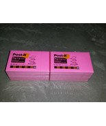 12 pads Post-It Notes Pop Up R-350-NP 3 x 5 100 sheets/pad Neon Pink NOS   - $24.99