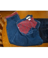 L.L. Bean Double L Blue Jeans Flannel Lined Relaxed Fit Womens 16 Petiite - $34.99