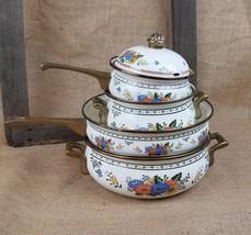 Vintage Mid Century German Asta enamelware dutc... - $118.80