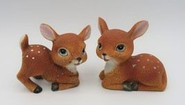 Baby Deer Figurines by Homco, #1473, Fawns, Bisque - $14.00
