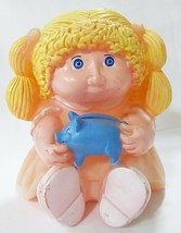 Vtg Cabbage patch kids piggy bank plastic doll star power blond hair peach pig - $27.72