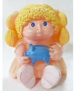 Vtg Cabbage patch kids piggy bank plastic doll star power blond hair pea... - $27.72