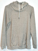 Chance or Fat Women's Heathered Brown Cowl Neck Hooded Hoodie Sweatshirt Size L
