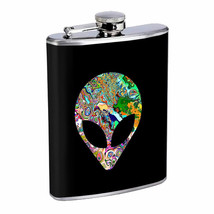 Technicolor Psychedelic Alien Em2 Flask 8oz Stainless Steel Hip Drinking... - $279,96 MXN