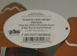 PBC G5007 Gingerbreads 8 Inch Brite Spots We Wish You A Merry Christmas image 4