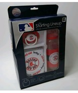 Boston Red Sox Baby Gift Set Starting Lineup Pacifier Bottle & Bib MLB B... - $14.52