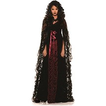 Underwraps Midnight Mist Gothic Womens Costume Large Black / Red Large - £49.25 GBP