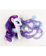 My Little Pony Rarity Figure Necklace, Pastel Goth, Fairy Kei, Kawaii St... - $30.00