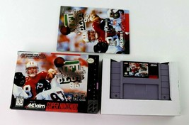 SNES NFL Quarterback Club '96 w/Box & Manual (Super Nintendo, 1995) Tested - $7.95