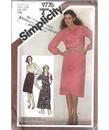 Sin Cortar Vintage Simplicity Patrón de Costura Misses Dos Pieza Vestido... - $4.83