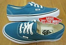 9b1c14cfe7 Vans Mens Authentic Corsair Blue True White Canvas Skate Boat shoes Size...  -