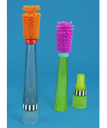 Sassy No Scratch Bottle Brush BPA Free Soft Bristles Safe Dispenses Soap... - $14.99