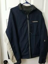 Abercrombie A/92 Mens REVERSIBLE Winter Ski Coat Jacket navy gray Size L... - $23.38