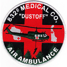 US Army 832nd Aviation Medical Company Air Ambulance Dustoff Patch 4.50 by 4.5'' - $13.85