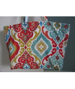 NEW Large Tote Bag Folding Eco Friendly Canvas for Market, Beach - Fiesta - $19.95