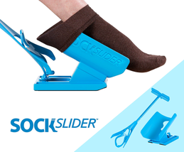 Sock Slider Easy On Off Sock Aid Kit Shoe Horn Pain Free No Bending Convenient - $24.72
