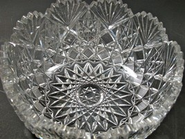 Cut glass ABP bowl blown blank Antique - $92.22